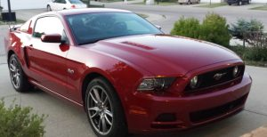 Ruby Red Mustang GT