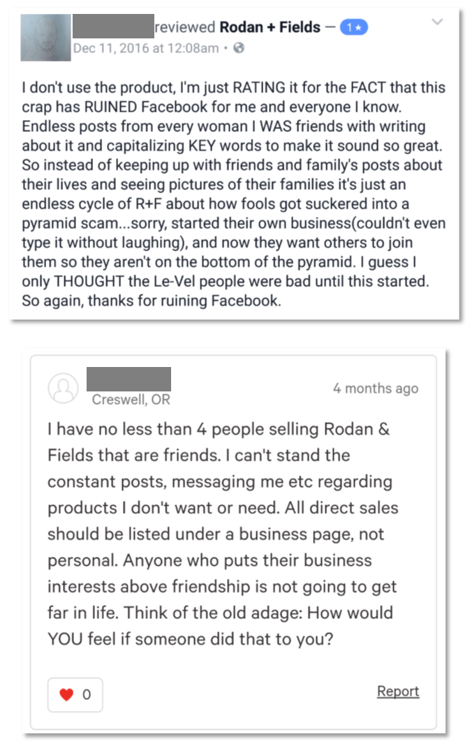 Rodan and Fields Complaints